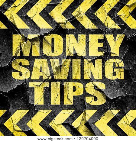 money saving tips, black and yellow rough hazard stripes