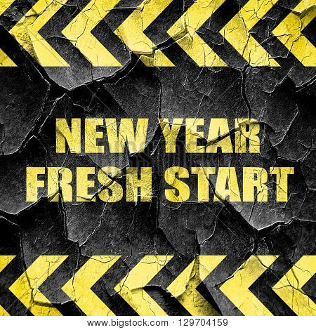 new year fresh start, black and yellow rough hazard stripes