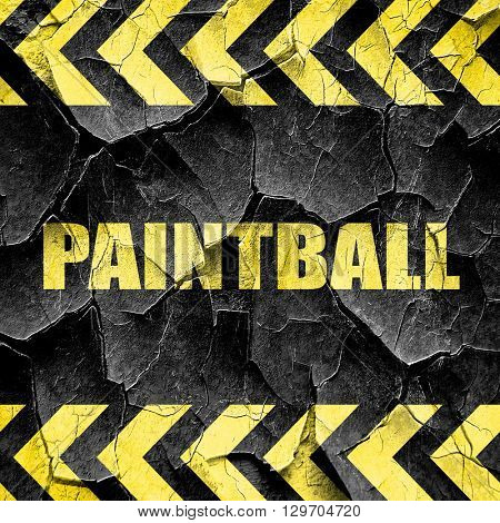 paintball, black and yellow rough hazard stripes