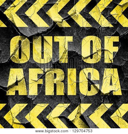out of africa, black and yellow rough hazard stripes