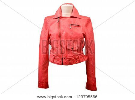 Red leather jacket from a stylish design