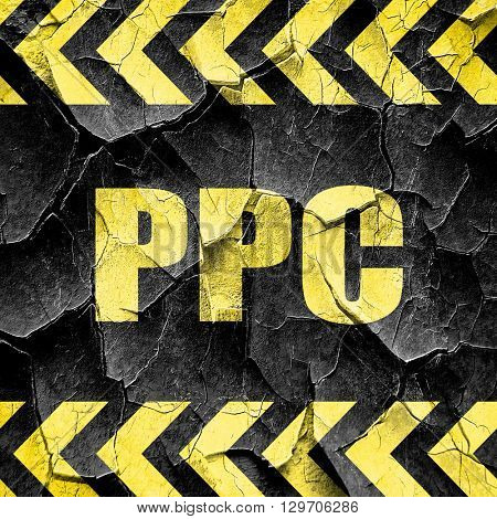 ppc, black and yellow rough hazard stripes