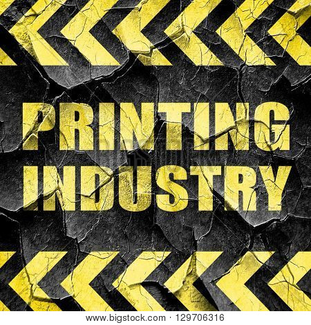 printing industry, black and yellow rough hazard stripes