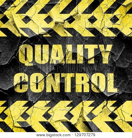 Quality control background, black and yellow rough hazard stripe