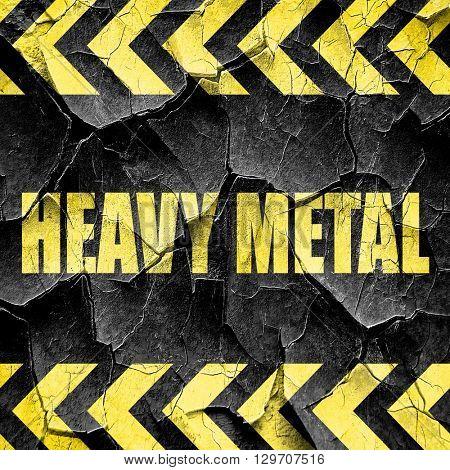 heavy metal music, black and yellow rough hazard stripes