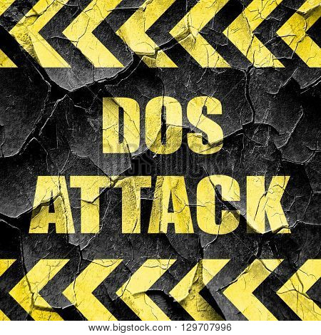 DOS warfare background, black and yellow rough hazard stripes