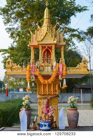 Shrine of the household god ( Joss house)
