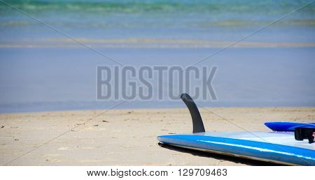 Boogie Board Abandoned On A Sand At Kaunaoa Beach