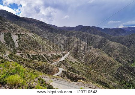 Mountain Road In Villavicencio Natural Reserve