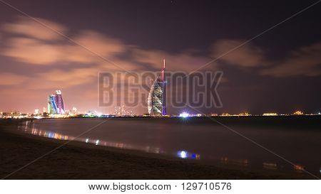 Burj Al Arab And Jumeirah Beach Hotel At The Dusk
