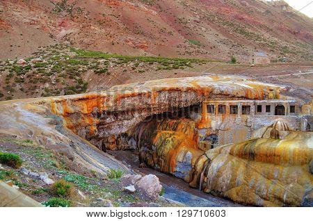 Puente Del Inca. The Inca's Bridge.