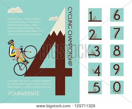 cycling race poster design with different numbers for your design