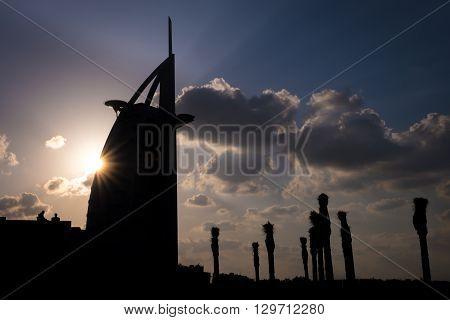 The View Of The Burj Al Arab Silhouette