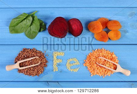 Inscription Fe ingredients and products containing iron and dietary fiber natural sources of ferrum healthy food and nutrition