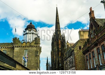 Building Of Downtown The Historic Royal Mile