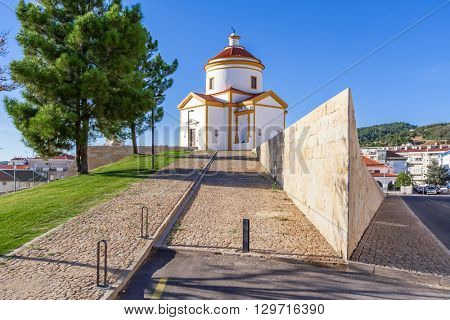 Panorama of the Calvario Church in Portalegre, Portugal. 17th and 18th century.