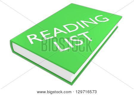 Reading List Literature Concept
