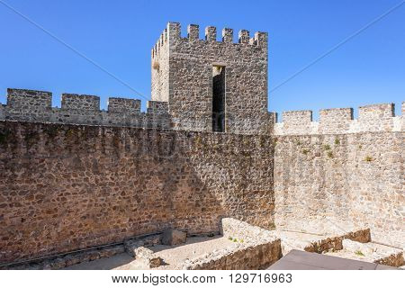 Portalegre city Medieval Castle, Portugal.
