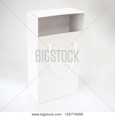 white paper shoebox isolated on white background