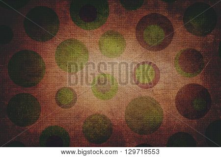 Dark Green And Brown Dots Texture With Squares