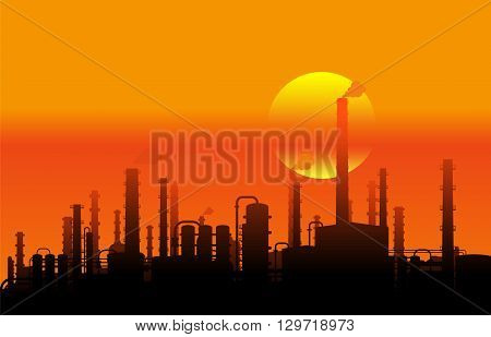 On the image is presented  industrial landscape