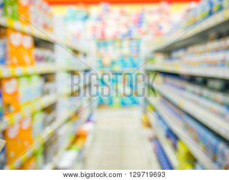 Blurred Kids Toy Market