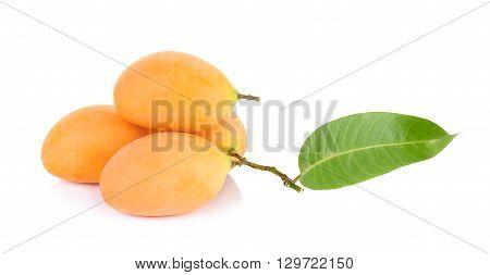 Marian Plum Thai Fruit Isolated On White
