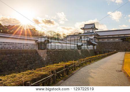 Kanazawa Castle In Kanazawa, Japan.