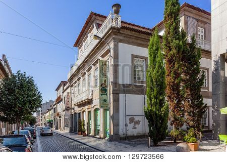 Vila Nova de Famalicao, Portugal. September 06, 2015: Bernardino Machado museum dedicated to one of the first Republic Presidents of Portugal.