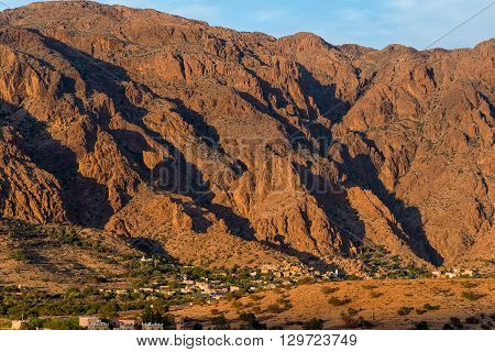 A few of the Ameln valley on edge of the Ant-Atlas mountains in south west Morocco.