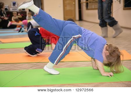 girl is engaged in gymnastics 5