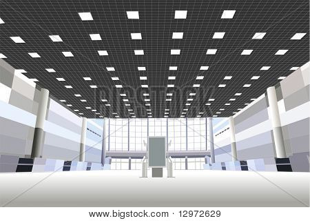 hall in the business center vector