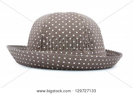 Kid Brown Hat Isolated On A White