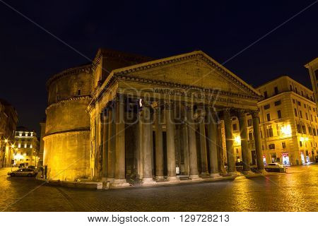Roman Pantheon at the blue hour, Rome, Italy