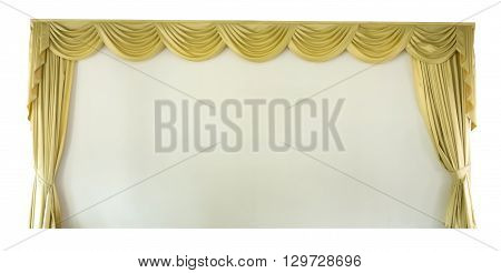 The Isolated gold Draped Theater Curtains Series
