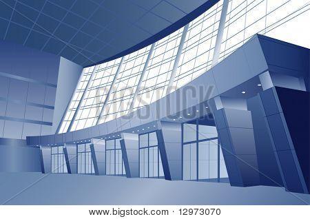 business interior vector door