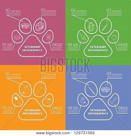 veterinary infographic with unfocused background. vector illustration, EPS 10
