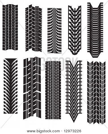 neumático imprime vector