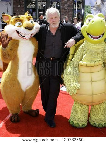 Nick Nolte at the Los Angeles premiere of 'Over The Hedge' held at the Mann Village Theatre in Westwood, USA on April 30, 2006.