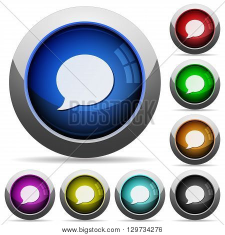 Set of round glossy Blog comment buttons. Arranged layer structure.