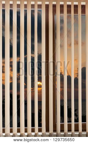 Window Blinds Sunset