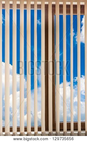 Window Blinds Cloud Sky