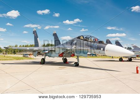 Sukhoi Su-30 Is A Russian Modern Supermaneuverable Supersonic Fighter Aircraft