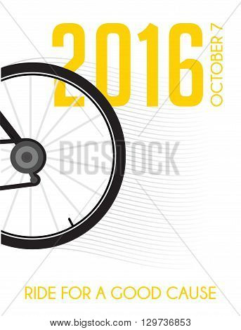 cycling race poster design .  ride for a good cause