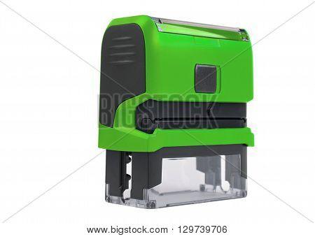Hand Rectangular Automatic Stamp, Matte Green.