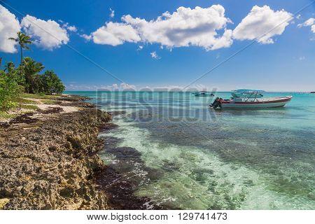 Boat near Saona, Carribean Sea, Dominican Republic