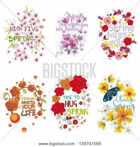 Six mnemonics on the concept of Spring season