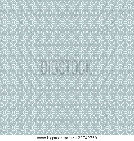 Seamless vector blue and white ornament. Modern geometric pattern with repeating elements