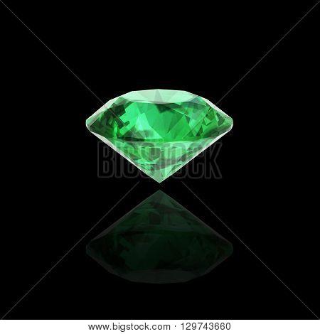 emerald on black high resolution 3D image