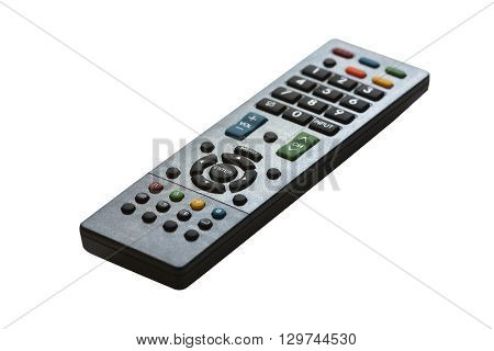 Tv remote control isolated on white background.